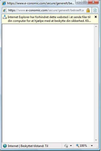 Internet Explorer driller ved bogføring af faktura. | e-conomic blog
