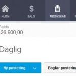 antal kladdeposteringer i e-conomic