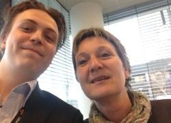 Peter og Eva i bedste selfie-stil