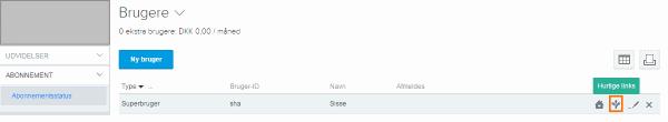 Tilføj hurtige links i e-conomic