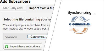Mailinglister syncroniseres med e-conomic